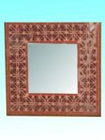Miroir 37 x 37 cm rose