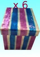 Lot de 6 boîtes capiz GM bleu violet