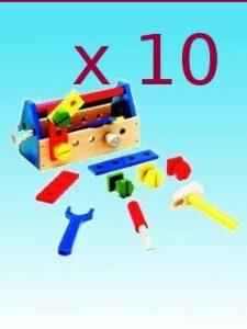 Lot de 10 boîtes à outils