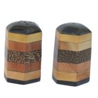 Poivrière et salière corne et bois de coco