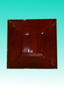 Plateau carré bambou rubis MM