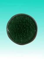 Support céramique rond vert 10 cm