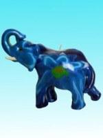 Bougie éléphant bleu