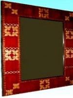 Miroir Batik carré  37 x 37 cm