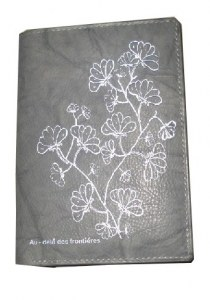 Portefeuille gris floral
