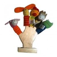 Lot de 5 marionnettes à doigts thème Ferme