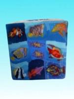 Bougie cube poissons tropicaux