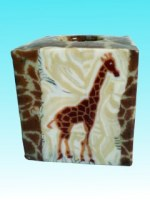 Bougie cube Girafe