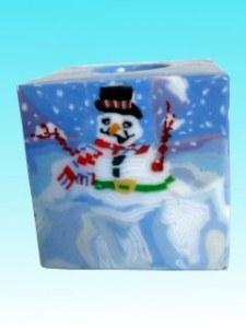 Bougie bonhomme neige