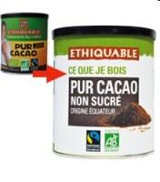 cacao instantané ethiquable