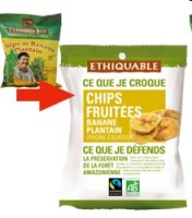 Chips banane salées Ethiquable 85 gr