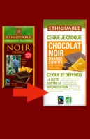Chocolat  noir orange 100 gr ETHIQUABLE