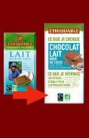 Chocolat  lait noix de coco ETHIQUABLE