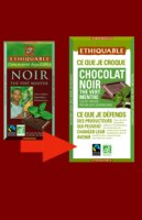Chocolat  Noir thé vert Menthe Ethiquable