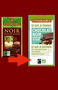 Chocolat noir badiane sesame bio 100 gr