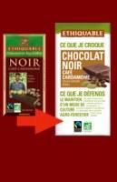 Chocolat noir café cardamome Ethiquable 100 gr