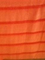 Etole coton 50% soie 50% coton rayée orange