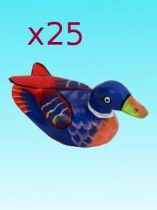 Lot de 25 canards