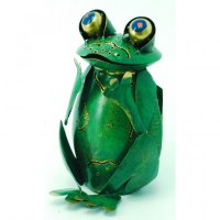 Photophore grenouille assise
