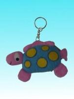 Porte clés dingosaure rose