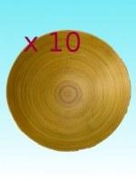 Lot de 10 coupes bambou 30 cm