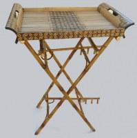 Table pliante en bambou 58x40xH 83 cm
