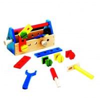 Boîte à outils de bricolage en bois