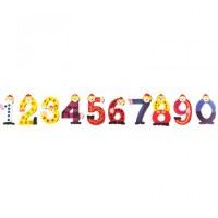Set de 10  chiffres clown