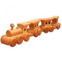 Train écolo en bois naturel