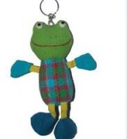 Porte clés peluche grenouille