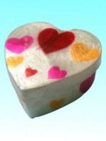 Boîte capiz coeur à cœur 10x10x1.7 cm