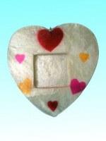 Petit cadre photo capiz coeur 10,8 x 10,4 cm