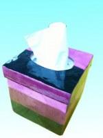 Boîte à mouchoirs capiz rose 12,5 x 12, 5 x 13 cm
