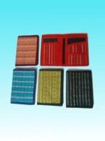 Porte-cartes en coton -coloris divers