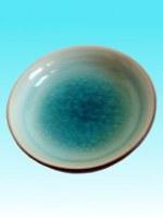 Soucoupe céramique turquoise