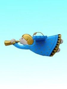 Anges trompette bleu