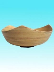 Saladier bambou  3 ptes tout naturel GM