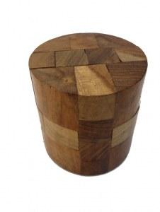 Casse tête cylindre en bois