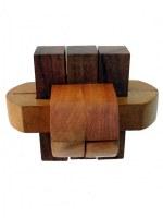 Casse tête en bois double boucle