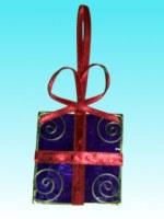 Décoration de noël paquet cadeau en capiz