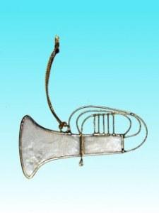 Décoration de noël trombone en capiz