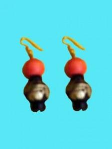 Boucles d'oreilles orange antique