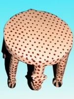 Tabouret Leopard MM