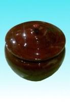 Pot bambou rubis couvercle bouton