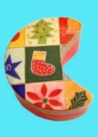 Boîte  lune de  Noël