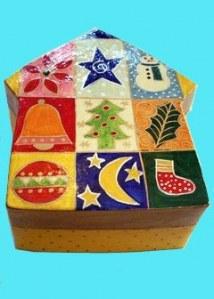 Boîte maison de Noël