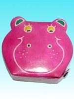 Tirelire cuir hippo
