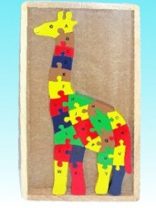 Puzzle girafe alphabet