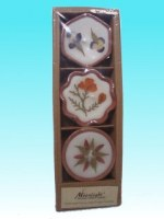 Bougies fleur hexa lot de 3