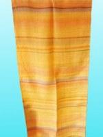 Etole en soie naturelle fine beige rayée 140x25 cm